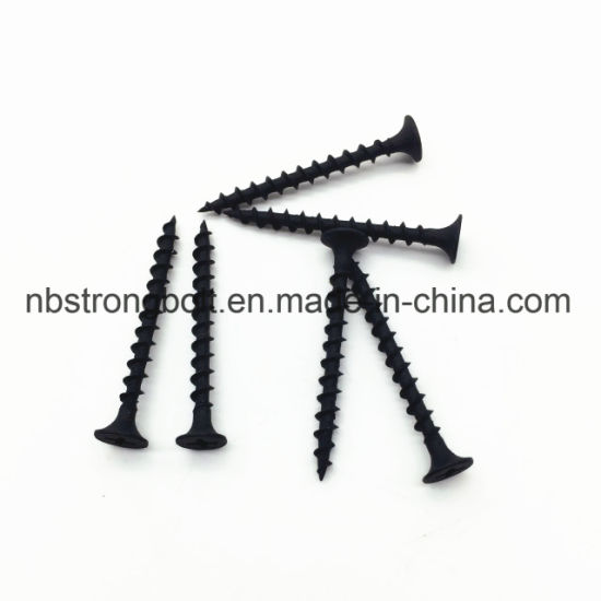 "Phil Bugle HD Fine Thread Drywall Screws Negro Phos # 6X1 ""/ China autoperforante tornillo fábrica, China tornillo fábrica"
