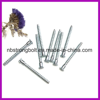 Punto plano Confirmat Tornillo Acero al carbono / China Confirmat Screw fábrica, China tornillo fábrica